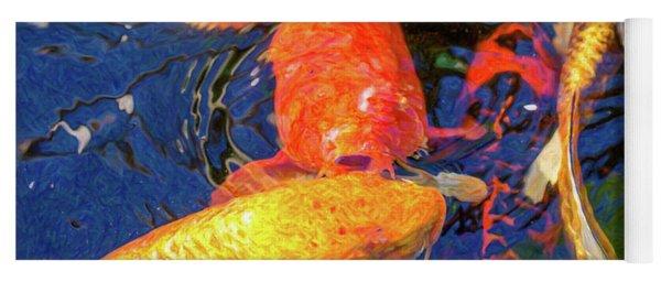 Koi Pond Fish - Kissing Sunshine - By Omaste Witkowski Yoga Mat