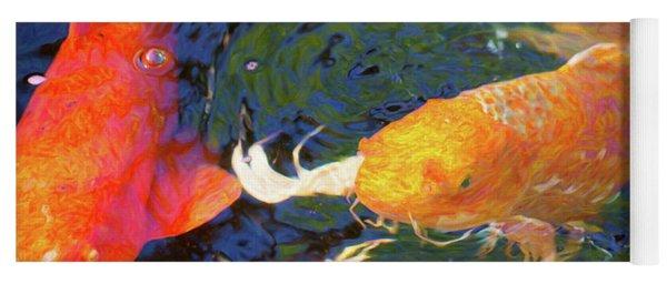 Koi Pond Fish - Making Room - By Omaste Witkowski Yoga Mat