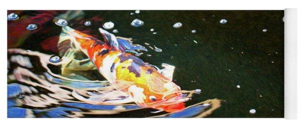 Koi Pond Fish - Making Waves - By Omaste Witkowski Yoga Mat