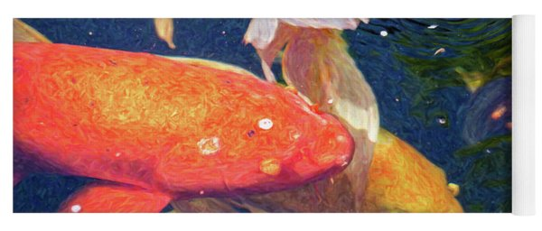 Koi Pond Fish - Pretty In Pink - By Omaste Witkowski Yoga Mat