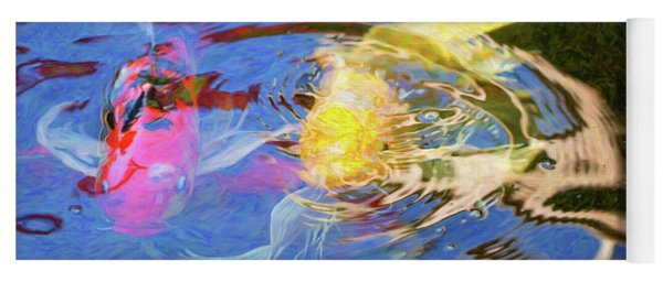 Koi Pond Fish - Swirling Emotions - By Omaste Witkowski Yoga Mat