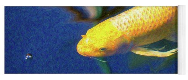 Koi Pond Fish - Taking Aim - By Omaste Witkowski Yoga Mat