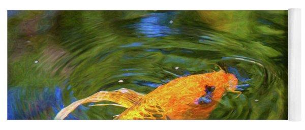 Koi Pond Fish - Turn Me Right Round - By Omaste Witkowski Yoga Mat