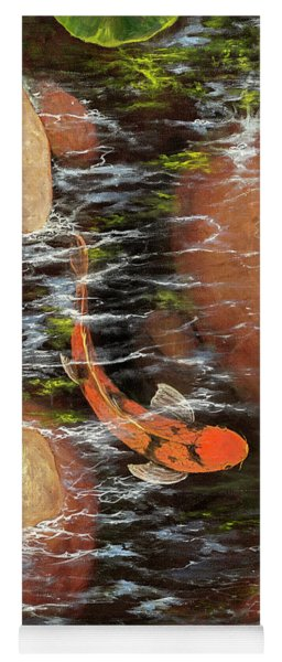 Koi Pond Left Side Yoga Mat