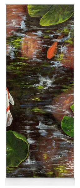 Koi Pond Right Side Yoga Mat