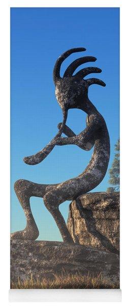 Kokopelli Statue Yoga Mat