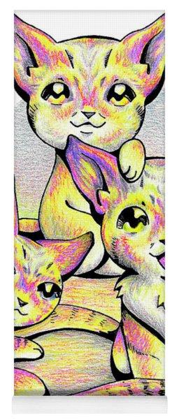 Kolorful Kitties Yoga Mat