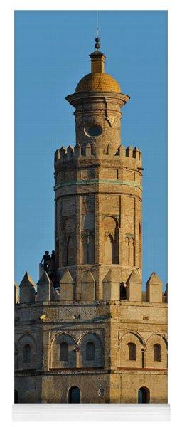 La Torre De Oro Detail. Seville Yoga Mat
