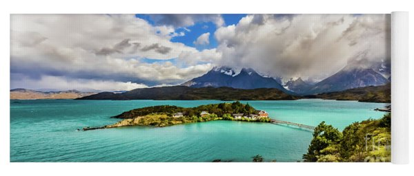 Lago Pehoe, Chile Yoga Mat