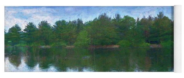 Lake And Trees Yoga Mat