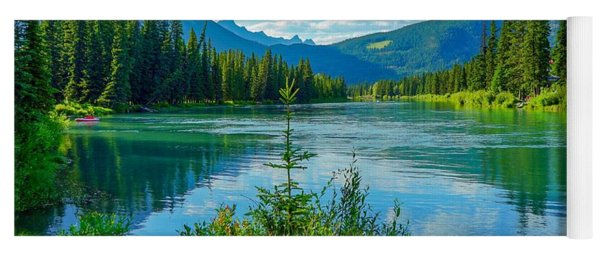 Lake At Banff Indian Trading Post Yoga Mat
