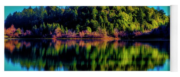 Lake Double Reflection Yoga Mat