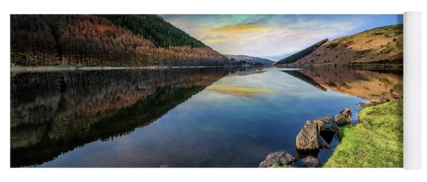Lake Geirionydd Sunset Yoga Mat
