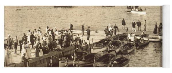 Lake Hopatcong Yacht Club Dock - 1910 Yoga Mat