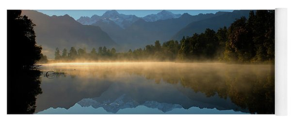 Lake Matheson Morning Yoga Mat