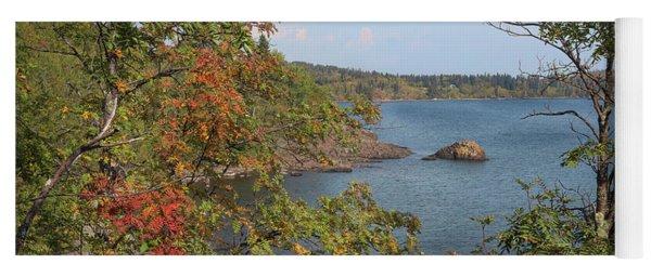 Lake Superior Autumn Yoga Mat