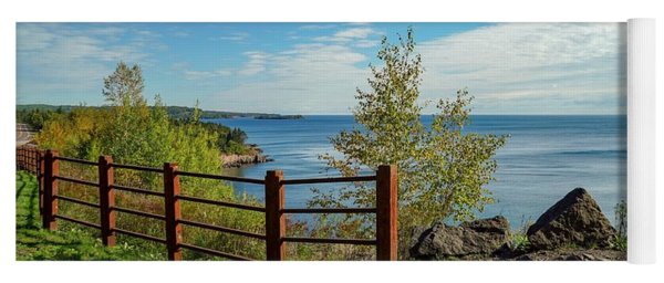 Lake Superior Overlook Yoga Mat