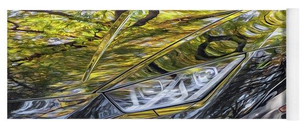 Lamborghini Fall Reflections Yoga Mat