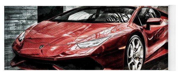 Yoga Mat featuring the photograph Lamborghini Huracan 2 by Brad Allen Fine Art