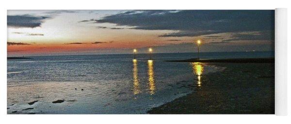 Lancashire. Knott End. Sunset.. Yoga Mat
