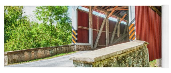 Lancaster Covered Bridge Yoga Mat
