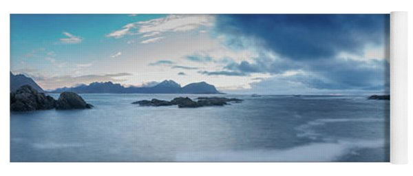 Landscape In The Lofoten Islands Yoga Mat