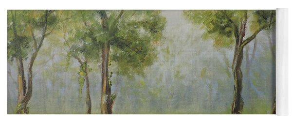 Landscape Of The Great Swamp Of New Jersey With Pond Yoga Mat