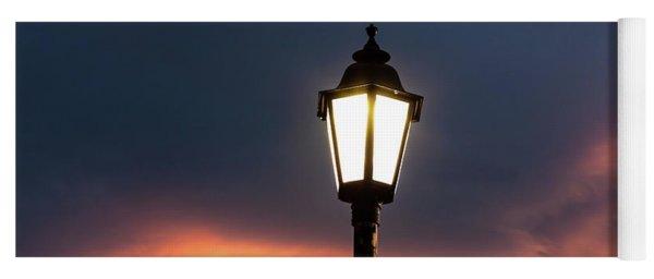Lantern At Sunset Yoga Mat