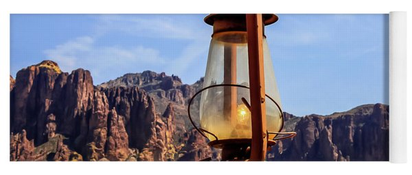 Lantern Over Superstitions Yoga Mat