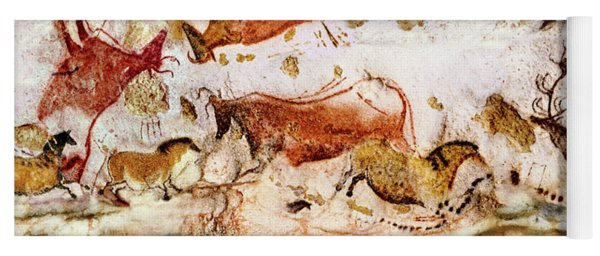 Lascaux Cows Horses And Deer Yoga Mat