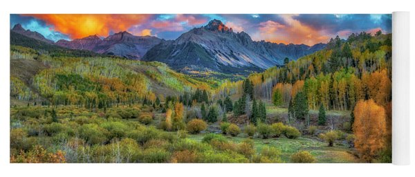 Last Light Mount Sneffels Yoga Mat