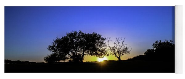 Last Light Texas Hill Country Paradise Canyon Sunset 8053a Yoga Mat