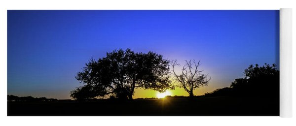Last Light Texas Hill Country Paradise Canyon Sunset 8053a1 Yoga Mat