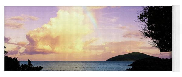 Last Rainbow Of The Day Yoga Mat