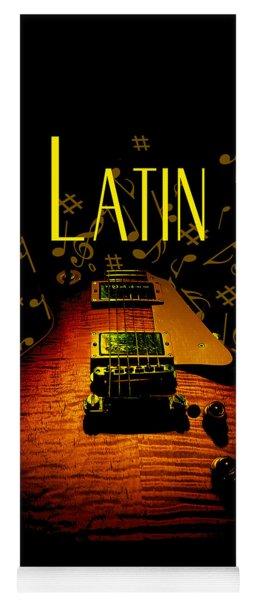 Latin Guitar Music Notes Yoga Mat