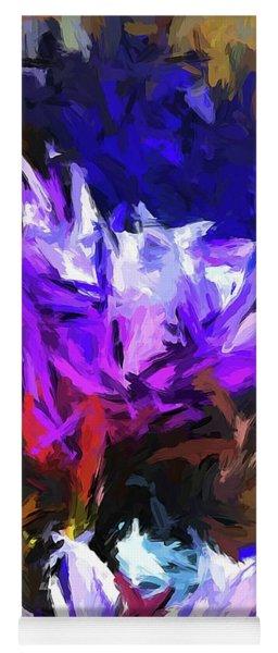 Lavender Flower And The Cobalt Blue Reflection Yoga Mat