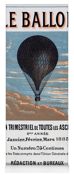 Le Ballon Aeronautical Journal, 1883 French Poster Yoga Mat