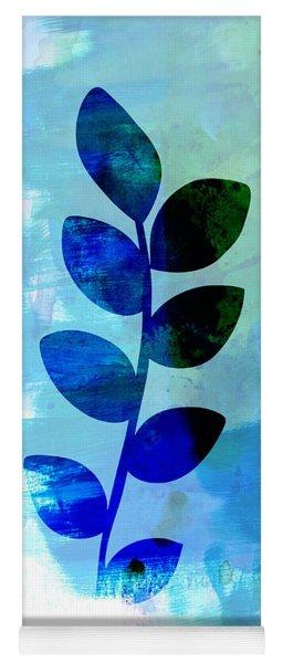 Leaf Watercolor Yoga Mat