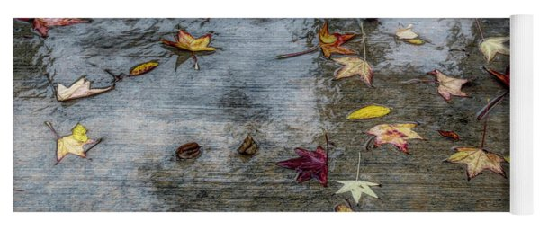 Leaves In The Rain Yoga Mat