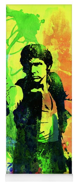 Legendary Han Solo Watercolor Yoga Mat