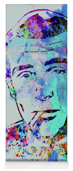 Legendary Humphrey Bogart Watercolor Yoga Mat