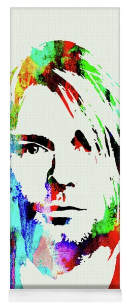 Legendary Kurt Cobain Watercolor Yoga Mat