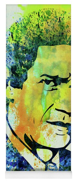 Legendary Steve Mcqueen Watercolor Yoga Mat