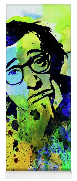 Legendary Woody Allen Watercolor Yoga Mat