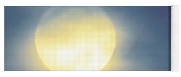 Yoga Mat featuring the photograph Leo Blue Super Moon by Judy Kennedy