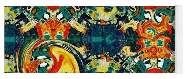 Yoga Mat featuring the digital art Les Quatre Elements by A zakaria Mami