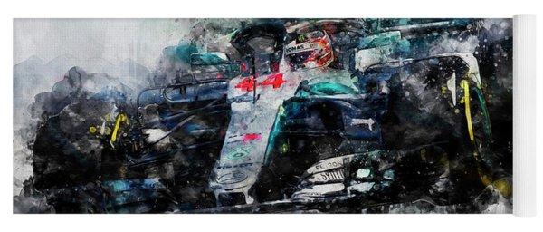 Lewis Hamilton, Mercedes Amg F1 W09 - 10 Yoga Mat