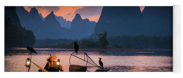 Li River Twilight Glow Yoga Mat