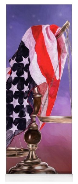 Liberty And Justice For All Yoga Mat