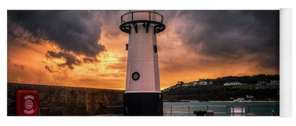 Lighthouse Dramatic Sky Yoga Mat